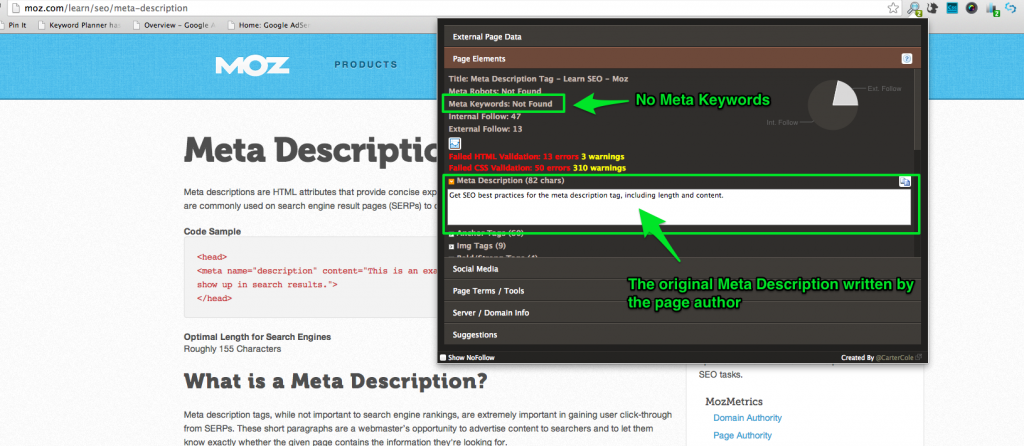Meta Tags on Moz explained