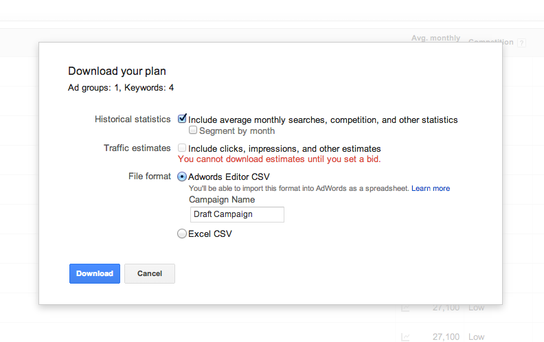 Download google adwords plan